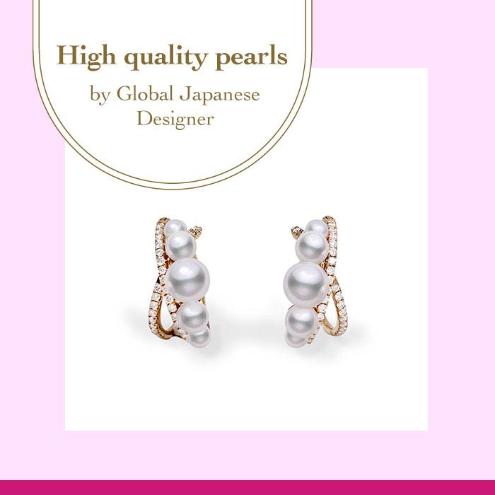 18KRG Diamond, Akoya pearl